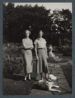 Lady (Victoria) Margaret Parente (née Cavendish-Bentinck); Lady (Alexandra Margaret) Anne Cavendish-Bentinck, by Lady Ottoline Morrell - NPG Ax143919