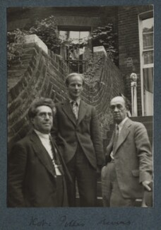 Samuel Solomonovich ('Kot') Koteliansky; Stephen Potter; James Stephens, by Lady Ottoline Morrell - NPG Ax143944