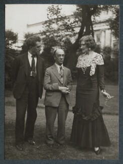 Samuel Solomonovich ('Kot') Koteliansky; James Stephens; Lady Ottoline Morrell, by Unknown photographer - NPG Ax143950