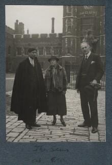 Boshi Sen; Gertrude Emerson Sen; Philip Edward Morrell, by Lady Ottoline Morrell - NPG Ax143952