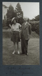 Patricia Helen (née Spence), Countess Russell; Bertrand Russell, by Lady Ottoline Morrell - NPG Ax143953
