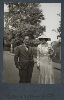 Walter de la Mare; Lady Ottoline Morrell, by Unknown photographer - NPG Ax143961