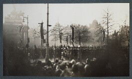 'The Funeral Procession of King George V', possibly by Lady Ottoline Morrell - NPG Ax143966