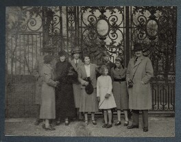 Visiting Hampton Court Palace, possibly by Philip Edward Morrell, 1936 - NPG Ax143973 - © National Portrait Gallery, London
