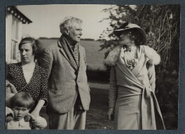 Violet Rosalie Powys (née Dodds); Theodora Gay Scutt (née Powys); Theodore Francis Powys; Lady Ottoline Morrell, possibly by Philip Edward Morrell - NPG Ax143988