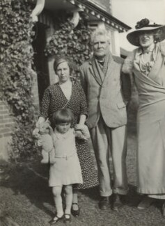 Violet Rosalie Powys (née Dodds); Theodora Gay Scutt (née Powys); Theodore Francis Powys; Lady Ottoline Morrell, possibly by Philip Edward Morrell - NPG x144221