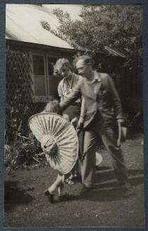 Henrietta Frances Phipps (née Lamb); Lady (Margaret) Pansy Lamb (née Pakenham); Henry Lamb, by Lady Ottoline Morrell, 1936 - NPG Ax144013 - © National Portrait Gallery, London