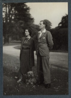 Hester Sassoon (née Gatty); Siegfried Sassoon, by Lady Ottoline Morrell - NPG Ax144015