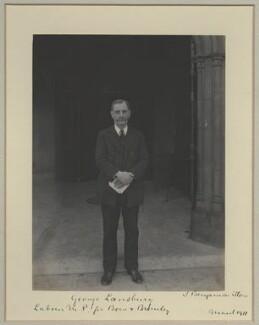 George Lansbury, by Benjamin Stone - NPG x31506