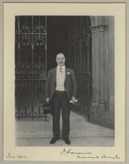 Sir Joseph Lawrence, 1st Bt, by Benjamin Stone - NPG x31509