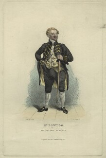 William Dowton as Sir Oliver Surface in Sheridan's 'The School for Scandal', by John Rogers, after  John William Gear - NPG D23442
