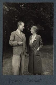 Francis Hackett; Signe Hackett (née Toksvig), by Lady Ottoline Morrell - NPG Ax144041