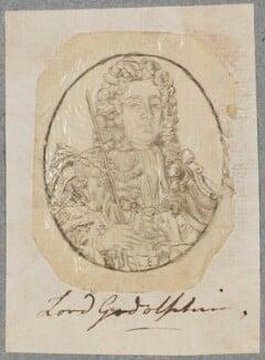 Sidney Godolphin, 1st Earl of Godolphin, by Henry Bone, after  Sir Godfrey Kneller, Bt, circa 1790-1834 (circa 1704-1710) - NPG D17264 - © National Portrait Gallery, London