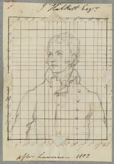 John Halkett, by Henry Bone, after  Sir Thomas Lawrence - NPG D17280