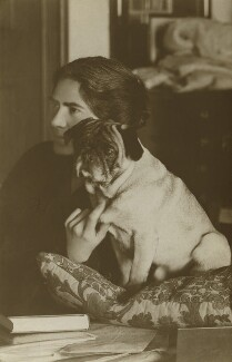 Lucy Mary Silcox with Gobbo, by Unknown photographer - NPG x144304