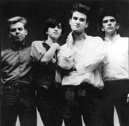 The Smiths (Andy Rourke; Johnny Marr; Morrissey; Mike Joyce), by Eric Watson, 1984 - NPG  - © Eugene and Willa Watson / National Portrait Gallery, London