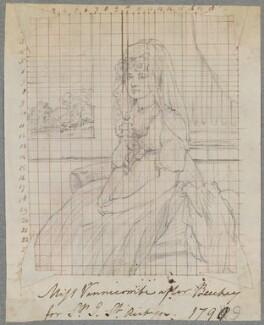 Juliana (née Vinicombe), Lady St Aubyn, by Henry Bone, after  Sir William Beechey - NPG D17302
