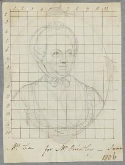 Mrs Lea, by Henry Bone, possibly after  John Russell - NPG D17308