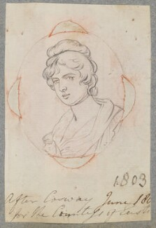 Possibly Charlotte Maria FitzRoy (née Waldegrave), Duchess of Grafton, by Henry Bone, possibly after  Richard Cosway - NPG D17326