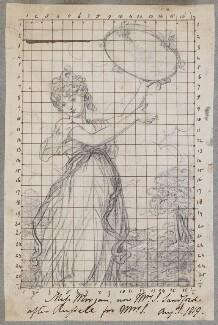 Elizabeth Georgina Morgan (later Mrs John Sandford), by Henry Bone, after  John Russell - NPG D17351