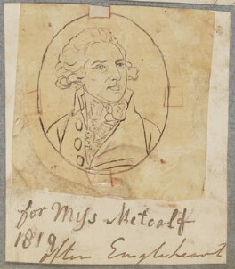 Mr Metcalf, possibly Christopher or Philip, by Henry Bone, after  George Engleheart - NPG D17355