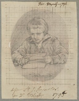 Unknown boy, by Henry Bone, possibly after  Sir Joshua Reynolds - NPG D17367