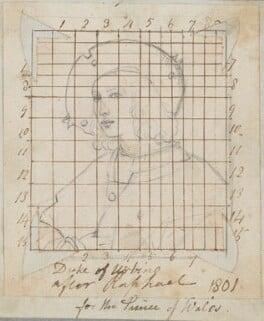 Possibly Guidobaldo da Montefeltro (Guidobaldo I), Duke of Urbino, by Henry Bone, possibly after  Raphael (Raffaello Santi) - NPG D17373