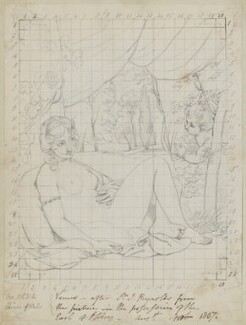Venus and Cupid, by Henry Bone, after  Sir Joshua Reynolds - NPG D17386