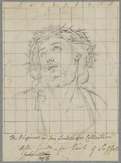 Head of Christ Crowned with Thorns, by Henry Bone, after  Guido Reni - NPG D17395