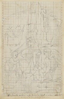 'The Virgin of the Rocks' (The Virgin with the Infant Saint John adoring the Infant Christ accompanied by an Angel), by Henry Bone, after  Leonardo da Vinci - NPG D17398