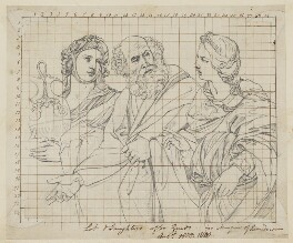 Lot and his Daughters, by Henry Bone, after  Guido Reni - NPG D17403