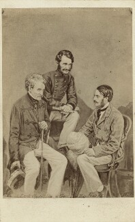 Colin Campbell, 1st Baron Clyde; Sir James Hope Grant; William Rose Mansfield, 1st Baron Sandhurst, by Henry Hering, circa 1862 - NPG x128697 - © National Portrait Gallery, London