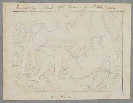 Danaë, by Henry Bone, probably after  Guy Head, after  Titian - NPG D17415