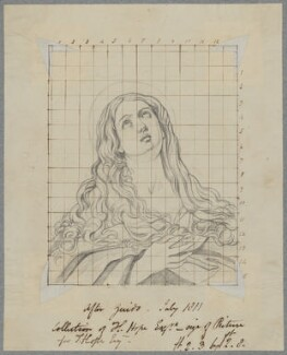 Mary Magdalene, by Henry Bone, probably after  Guy Head, after  Guido Reni - NPG D17417