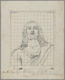 Head of Christ, by Henry Bone, after  Guido Reni - NPG D17418