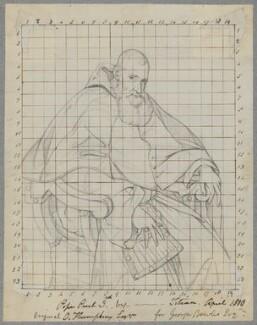 Pope Paul III (Alessandro Farnese), by Henry Bone, after  Titian - NPG D17423