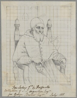 Pope Julius II (Giuliano della Rovere), by Henry Bone, after  Titian - NPG D17424