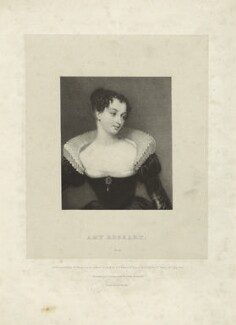 Fictitious portrait called Amy Robsart (Amy Dudley (née Robsart), Lady Dudley), by William Sharp, printed by  Charles Joseph Hullmandel, published by  Joseph Dickinson, after  Gilbert Stuart Newton - NPG D23444