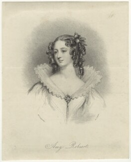 Fictitious portrait called Amy Robsart (Amy Dudley (née Robsart), Lady Dudley), by Edward Scriven, after  Margaret Sarah Carpenter - NPG D23445