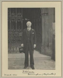 Sir Francis William ('Frank') Lowe, 1st Bt, by Benjamin Stone - NPG x31527