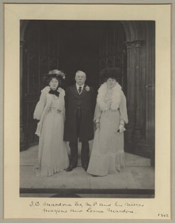 Marjorie Macdona; John Cumming Macdona; Lorna Macdona, by Benjamin Stone - NPG x31580