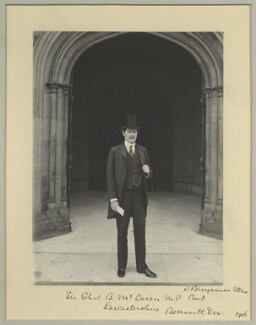 Charles Benjamin Bright McLaren, 1st Baron Aberconway, by Sir (John) Benjamin Stone, 1906 - NPG x31592 - © National Portrait Gallery, London