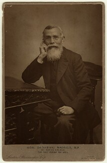 Dadabhai Naoroji, by London Stereoscopic & Photographic Company, published by  Messrs R.M. Richardson & Co - NPG x128698