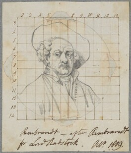 Rembrandt, by Henry Bone, after  Rembrandt - NPG D17439