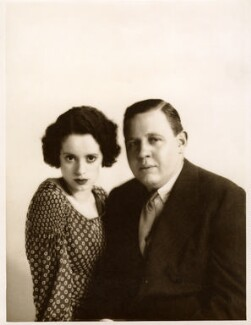 Elsa Lanchester; Charles Laughton, by Yvonne Gregory - NPG x11868