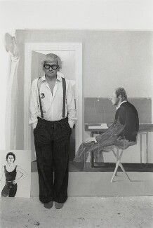 David Hockney, by Bob Collins, 1972 - NPG  - © estate of Bob Collins / National Portrait Gallery, London