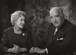 Dame Pattie Maie and Sir Robert Gordon Menzies, by Godfrey Argent - NPG x166072