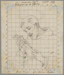 St Bruno, by Henry Bone, possibly after  Andrea Sacchi - NPG D17461