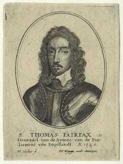 Thomas Fairfax, 3rd Lord Fairfax of Cameron, by Wenceslaus Hollar, after  Robert Walker - NPG D23416