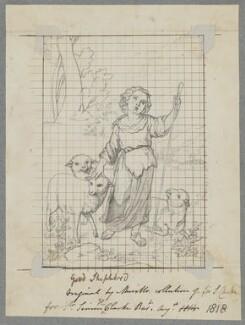 The Good Shepherd, by Henry Bone, probably after  Bartolomé Estebán Murillo - NPG D17466